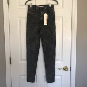 Levi Grey Acid Wash High Rise Jeans